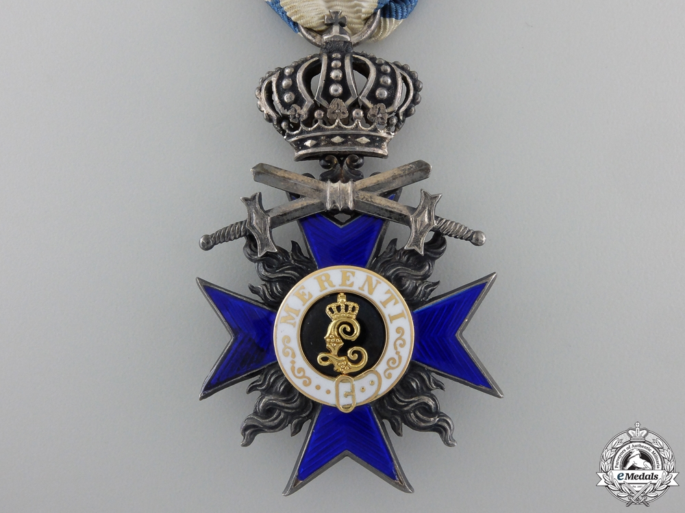 A Bavarian Military Merit Order; 4th Class with Crown and Crossed Swords