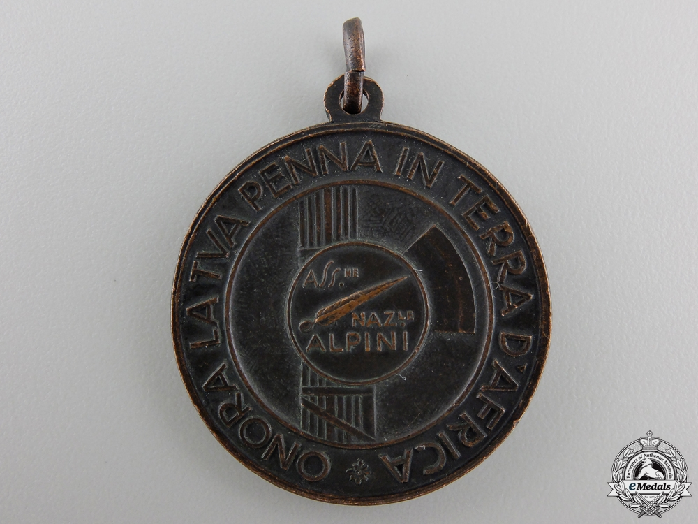 An Italian Alpini Association African Campaign Medal