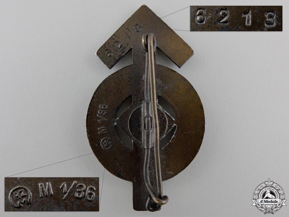 An HJ Proficiency Badge; Bronze Grade by Berg & Nolte