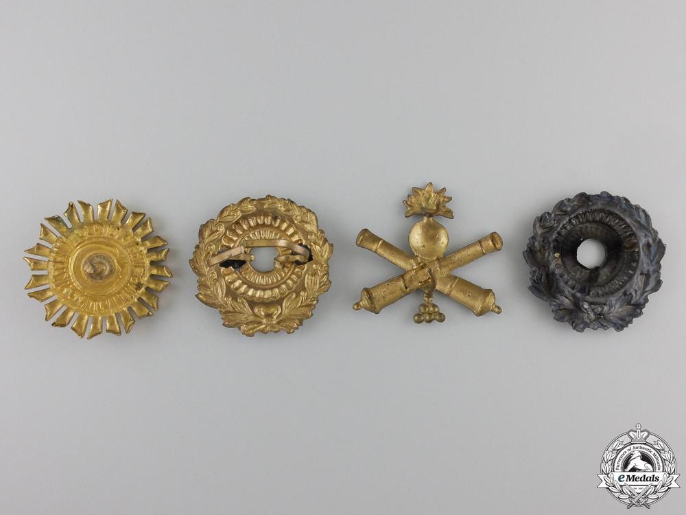 Four Argentinian Cap Badges