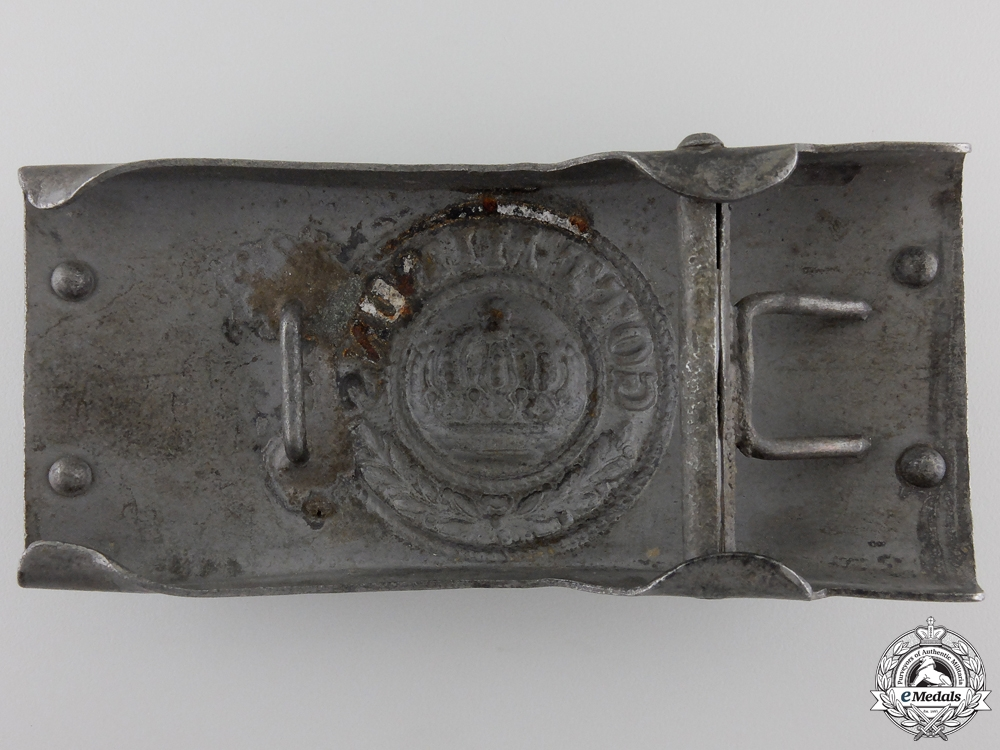A First War German Army Telegrapher's Belt Buckle