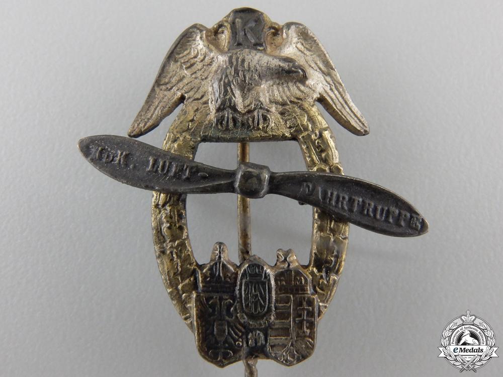 An Austro Hungarian Aviation Association Combat Pilot's Wing Badge Stickpin