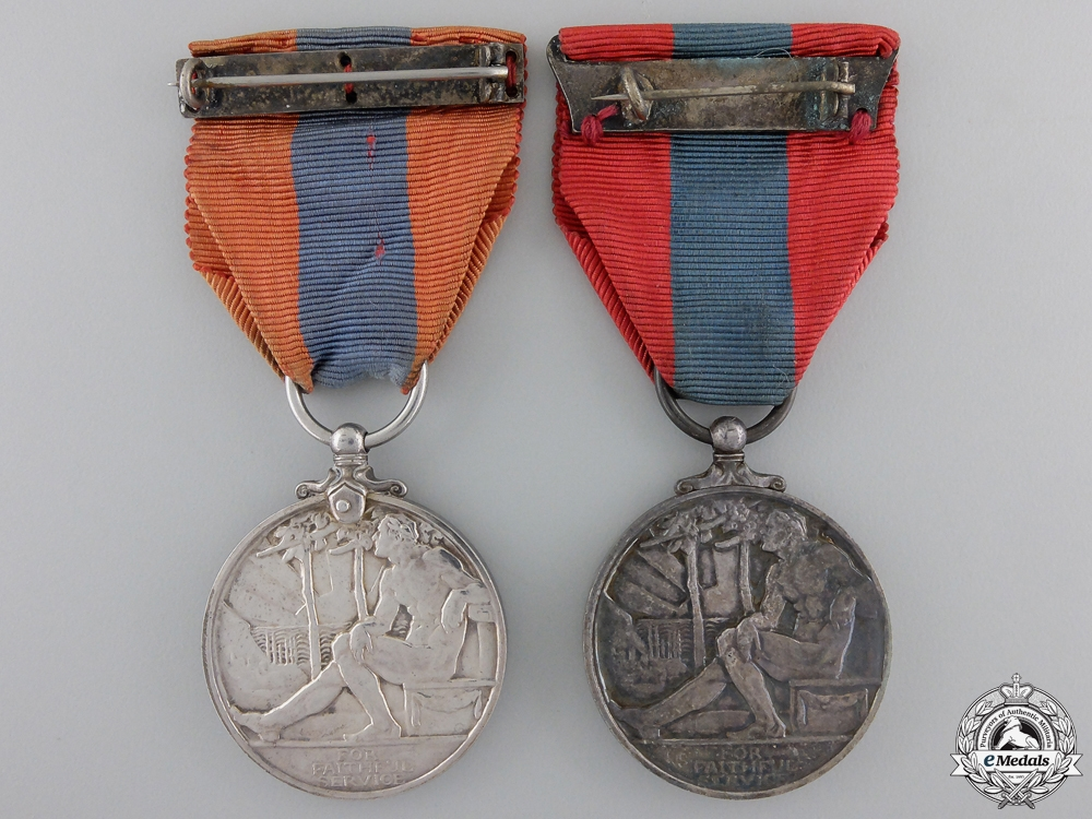 Two Imperial Service Medals