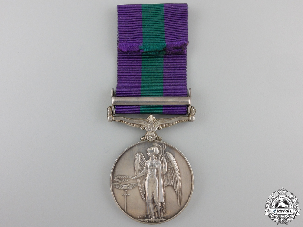 A 1918-1962 General Service Medal to the Royal Artillery