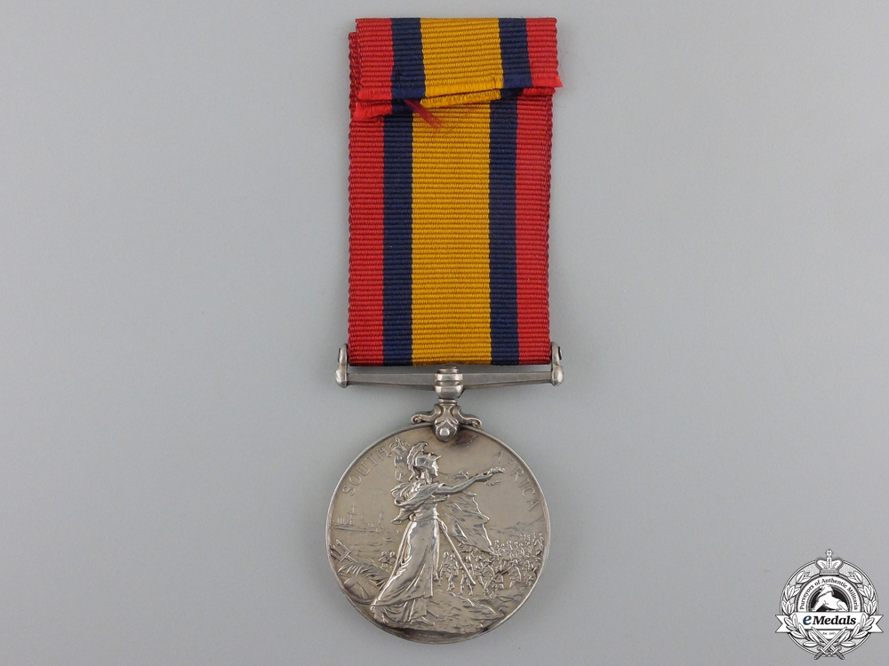 A 1899-1902 Queen's South Africa Medal to HMS Terpsichore