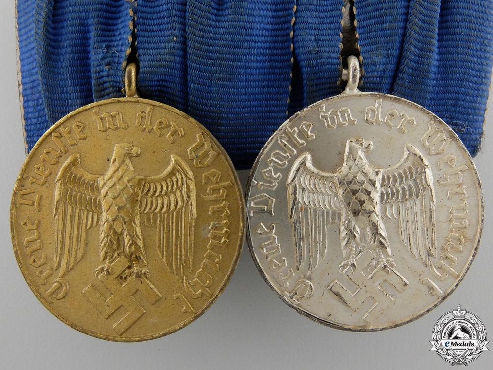 A Pair of Luftwaffe Long Service Medals