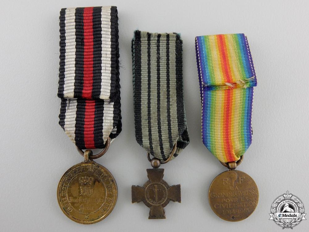 Three Miniature Medals & Awards