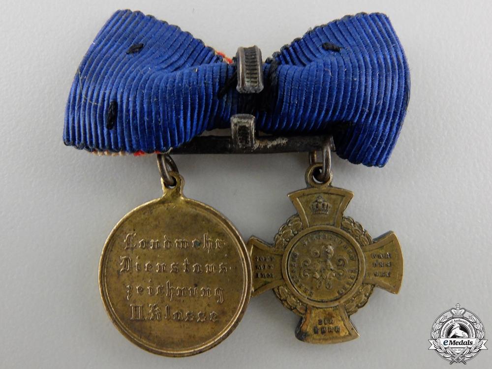 A Prussian Austrian War Miniature Pair