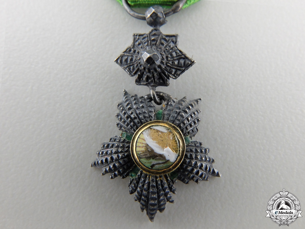 A Miniature Iranian Order of the Lion and the Sun; Officer