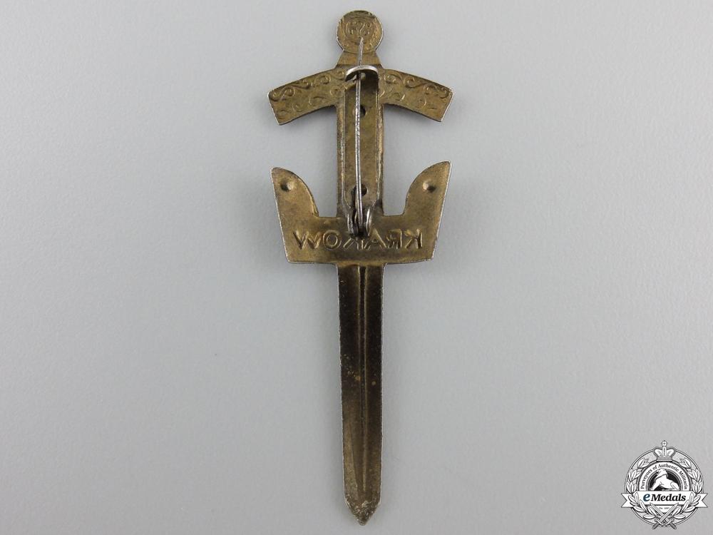A Polish Krakow Sword Badge