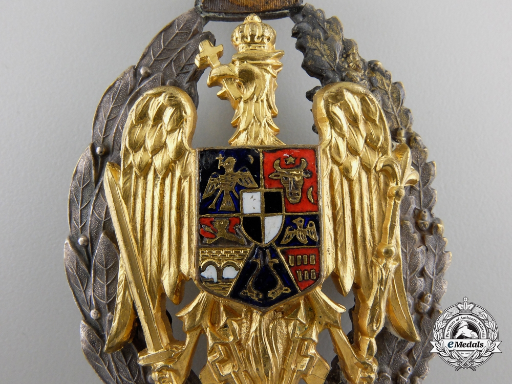 A Romanian Military Academy Graduation Badge