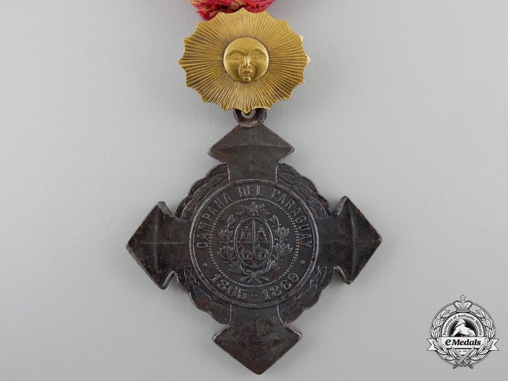 An 1865-69 Paraguay War Cross; Senior Officer's Version