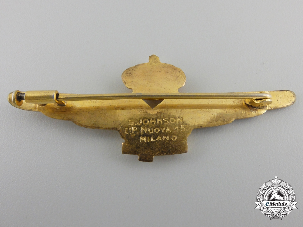 A Italian 1941 Pilot's Badge by S.Johnson