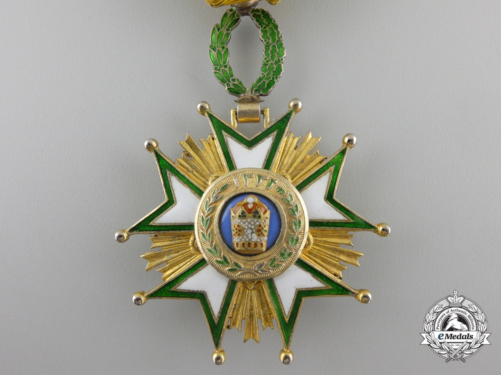 An Iranian Order of the Crown; 4th Class Officer