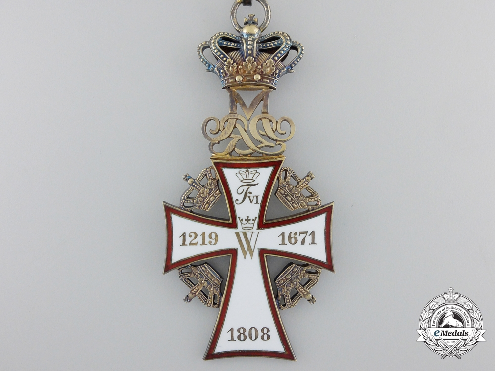 A Danish Order of the Dannebrog; 2nd Class Commander