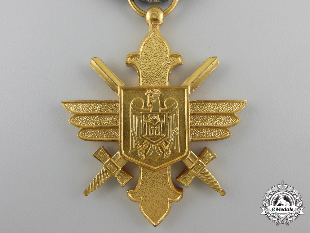 A Royal Romanian Air Force Bravery Decoration; 1st Class