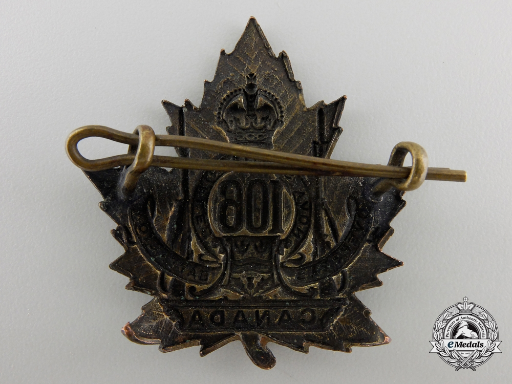 WWI 106th Infantry Battalion Cap Badge CEF