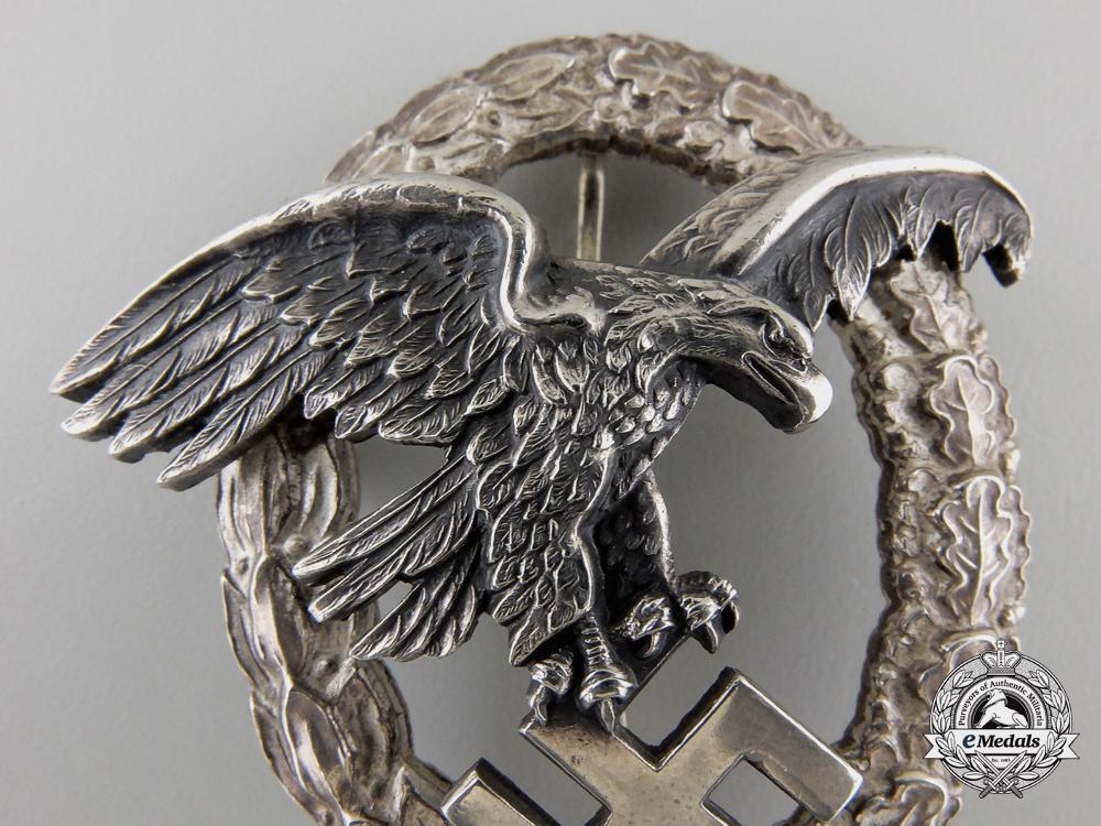 An Early Luftwaffe Observers Badge by Assmann