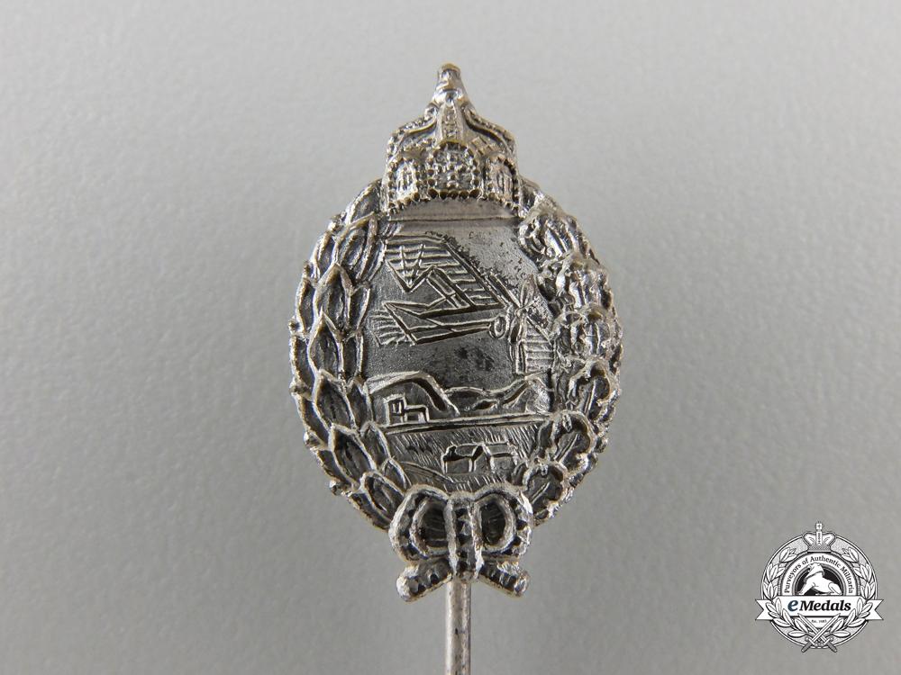 A First War Miniature Prussian Pilot's Badge Stickpin
