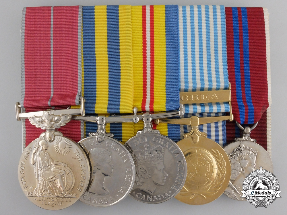 A Canadian British Empire Medal Group