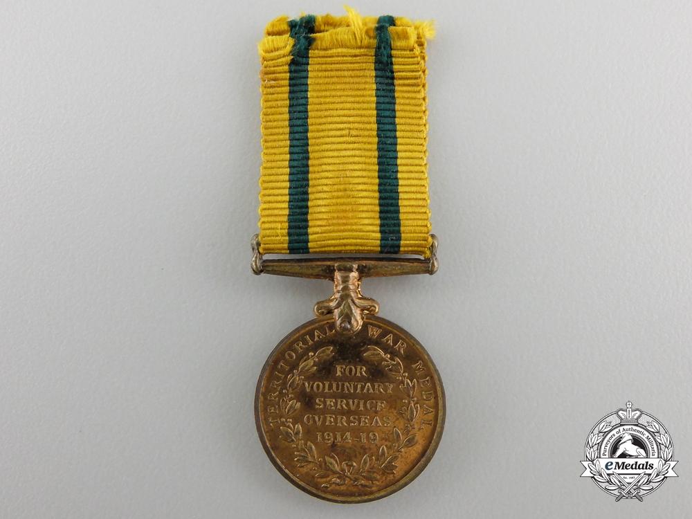 A Miniature Territorial Force War Medal 1914-1919