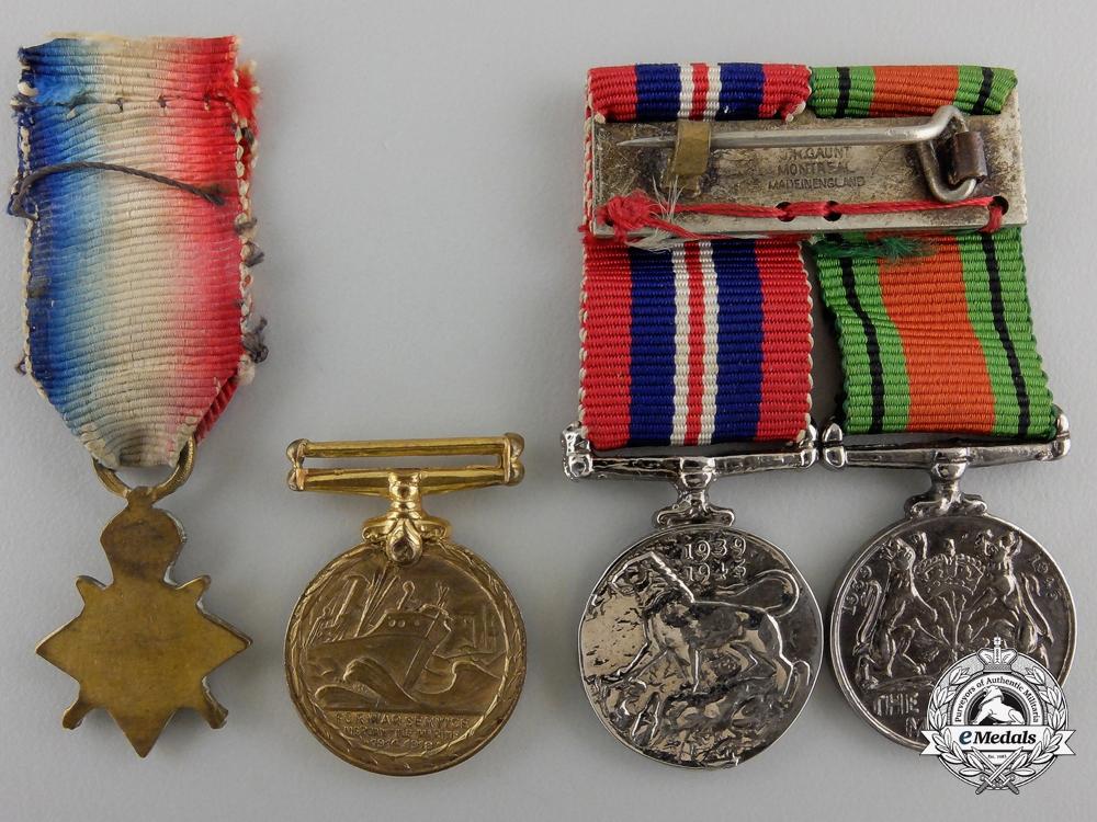 Four Miniature British Service Medals