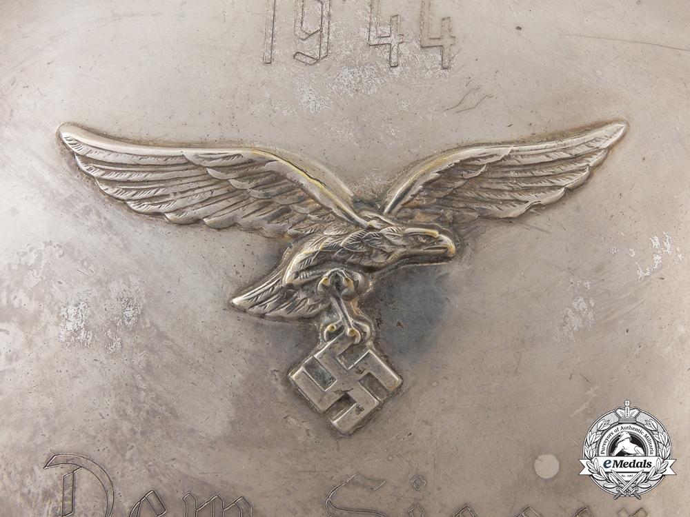 A 1944 Luftwaffe Arial Combat Winner's Silver Plate