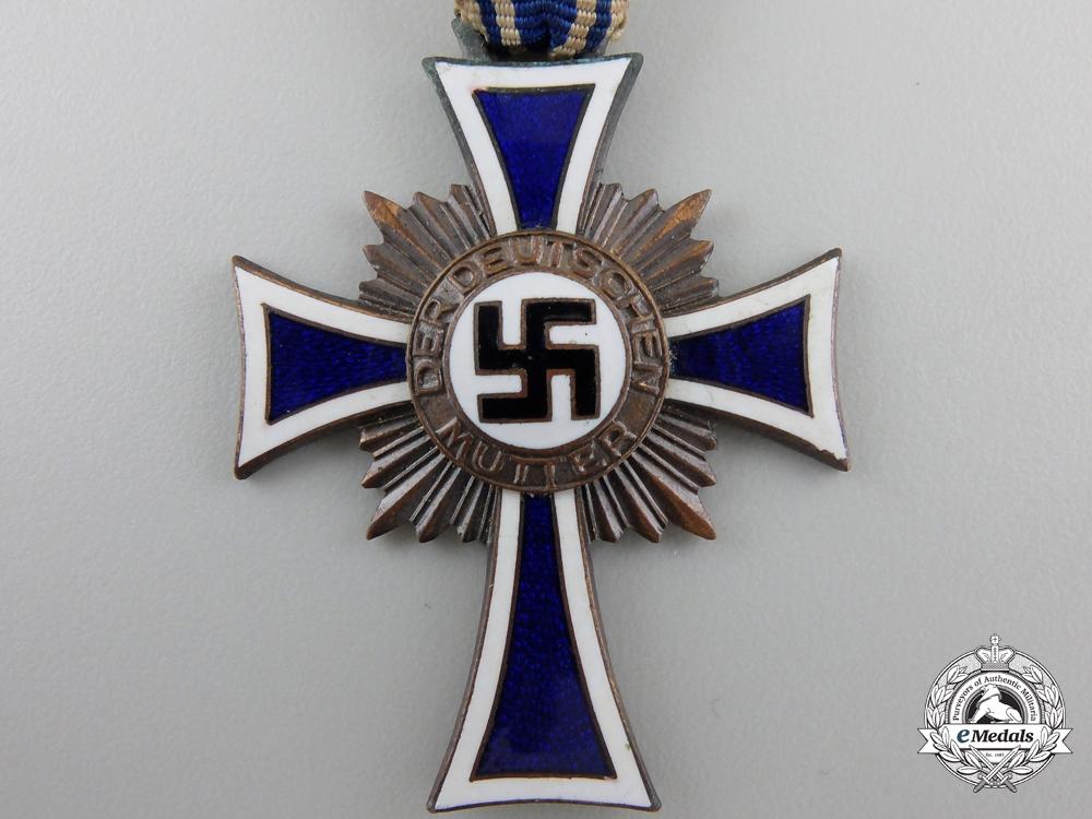 A German Mother's Cross; Bronze Grade