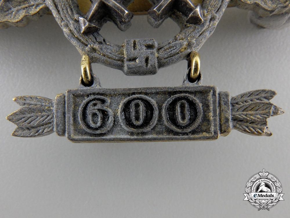 A Gold Grade Air-to-Ground Support Squadron Clasp with 600 Hanger