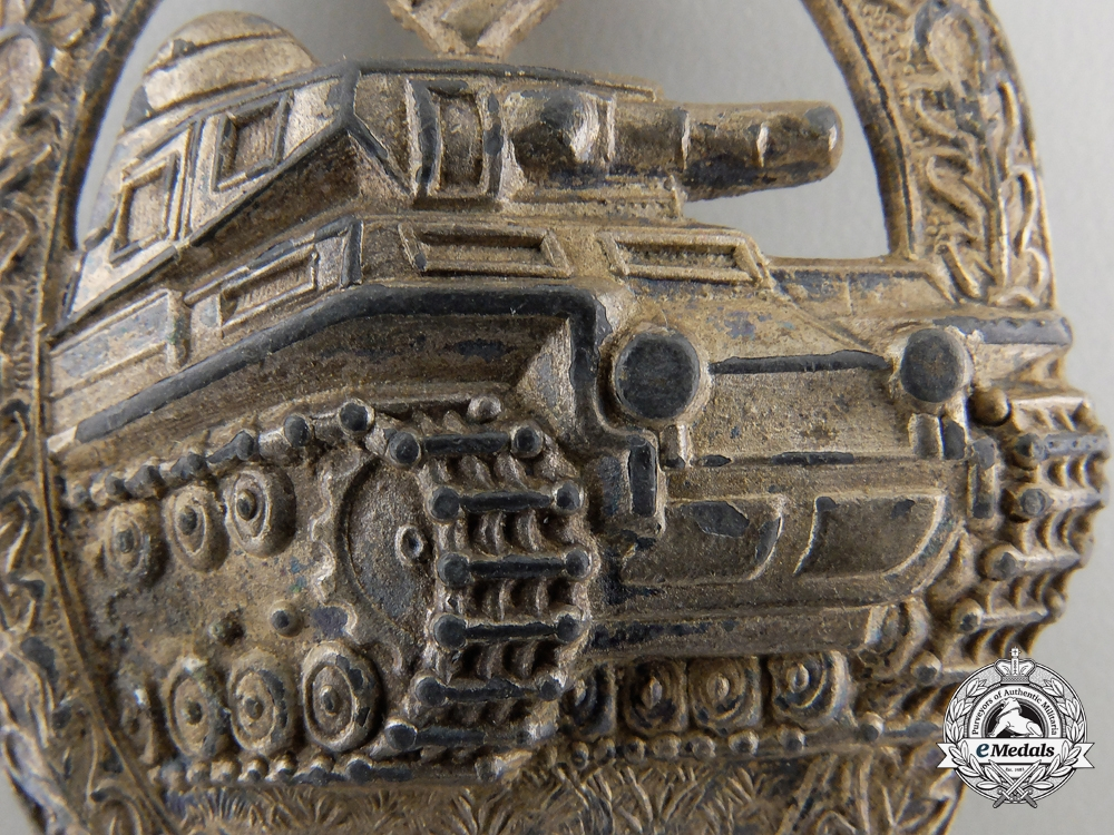 A Silver Grade Tank Assault Badge by A.S.