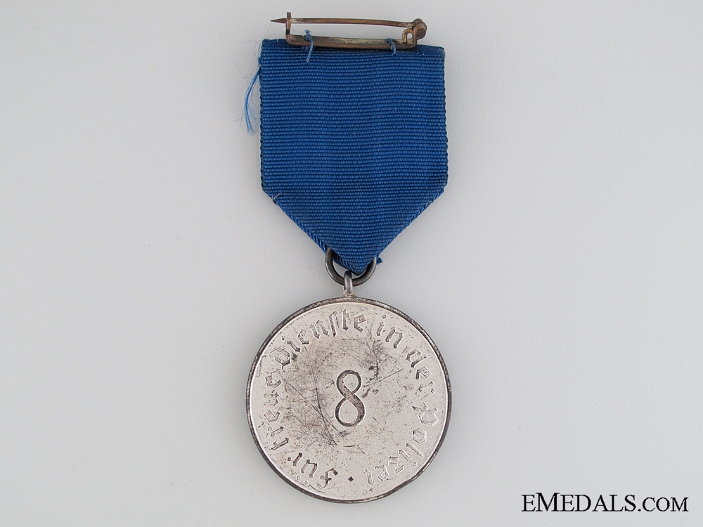 Police 8 Years Long Service Medal