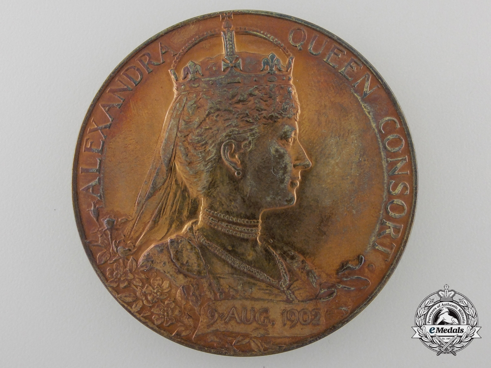 A 1902 Edward VII Coronation Medal