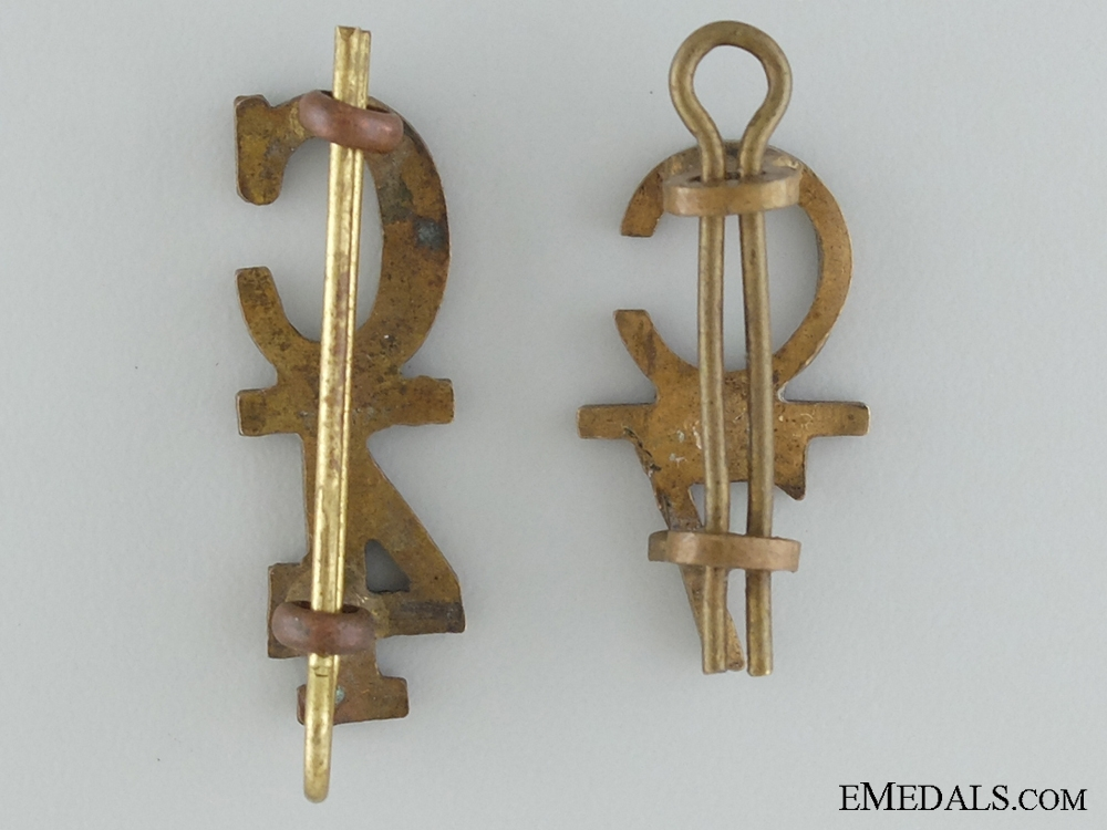 WWI 4th and 7th Infantry Battalions Collar Insignia