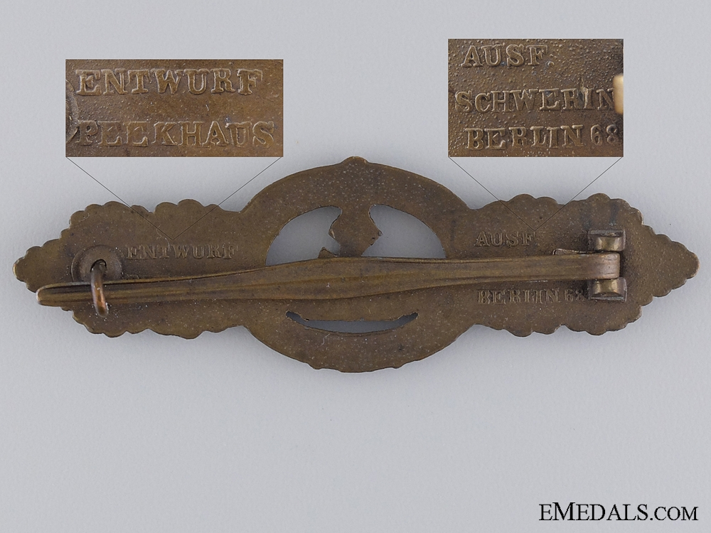 A Bronze Grade Submarine Clasp by Schwerin of Berlin