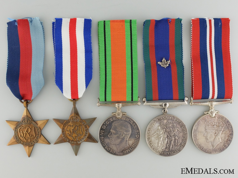 A Second War Medal Group to Captain Turnbull; Canadian Infantry