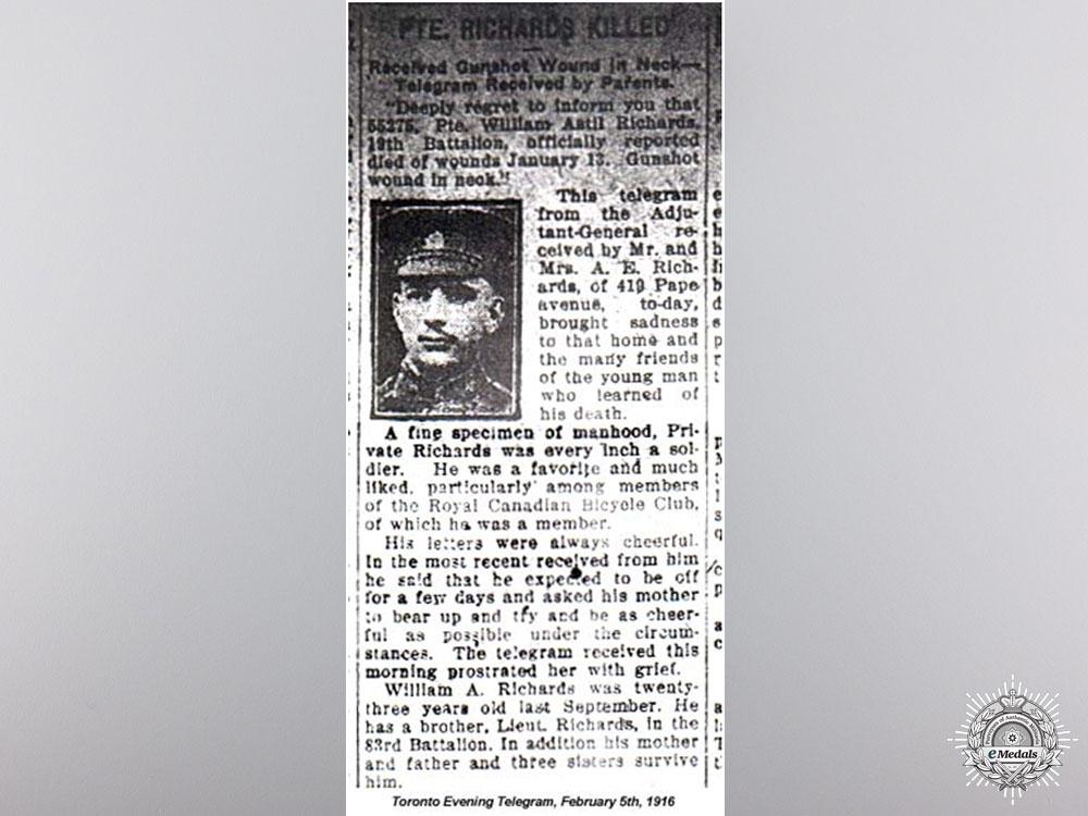 WWI Memorial Cross to the 19th Battalion CEF 1916