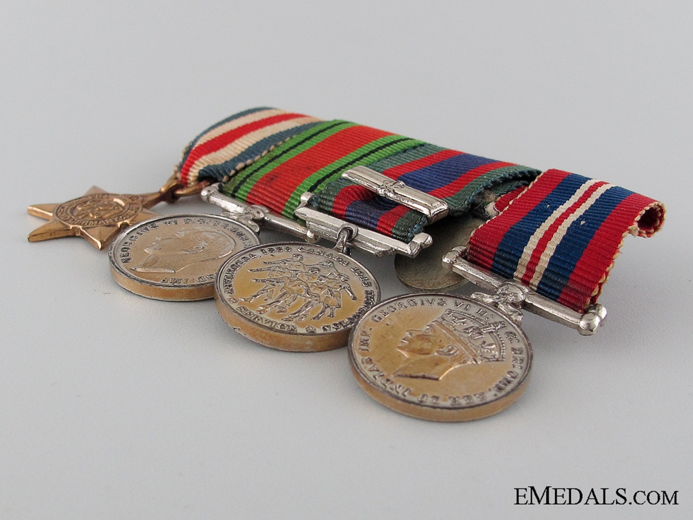 WWII Canadian Miniature Group of Four
