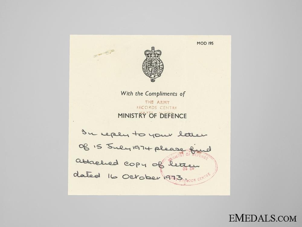 WWII British Awards to Dachau Deportee