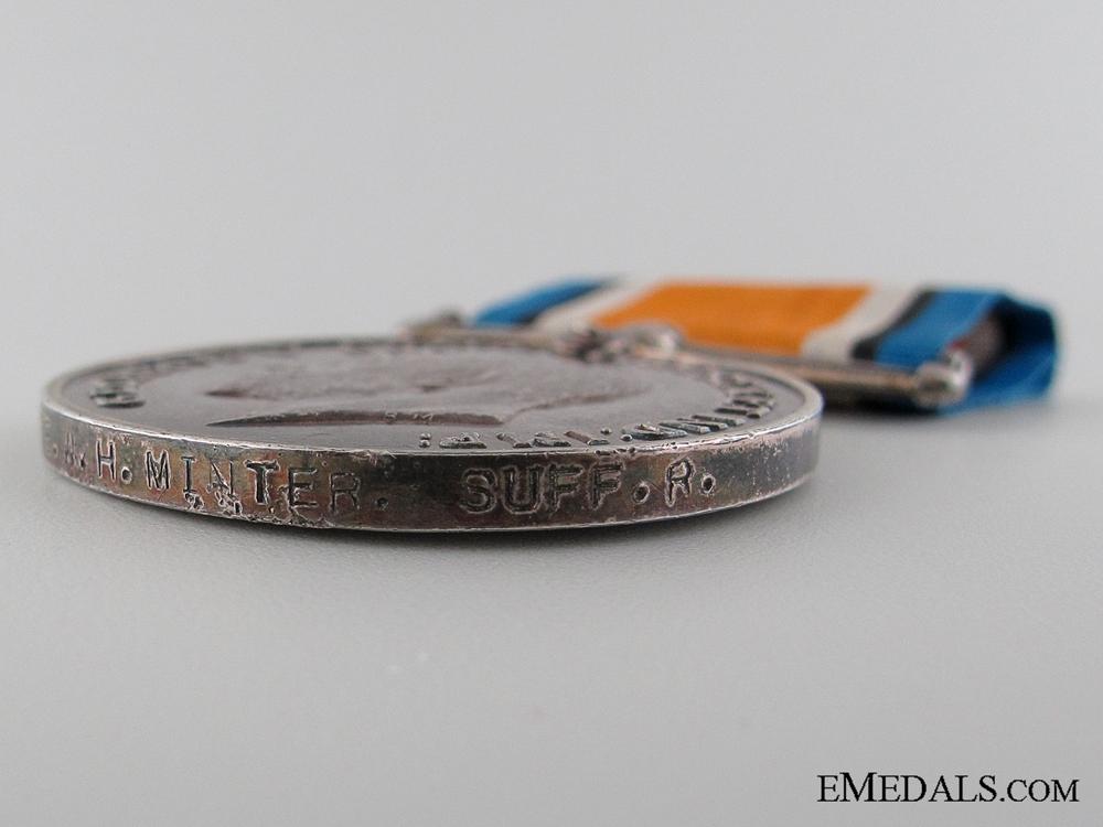 WWI British War Medal to the Suffolk Regiment