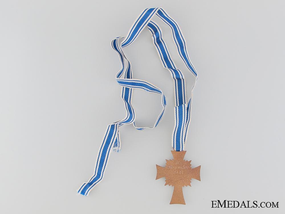 German Mother's Cross; Bronze Grade