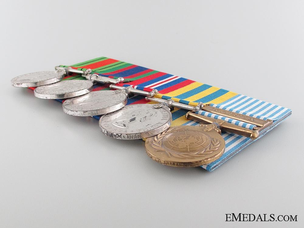A Canadian WWII & Korean War Medal Bar