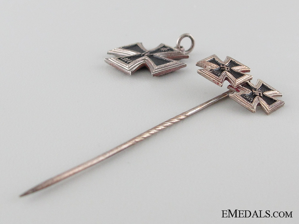 1914/39 Iron Cross Miniature and Stickpin