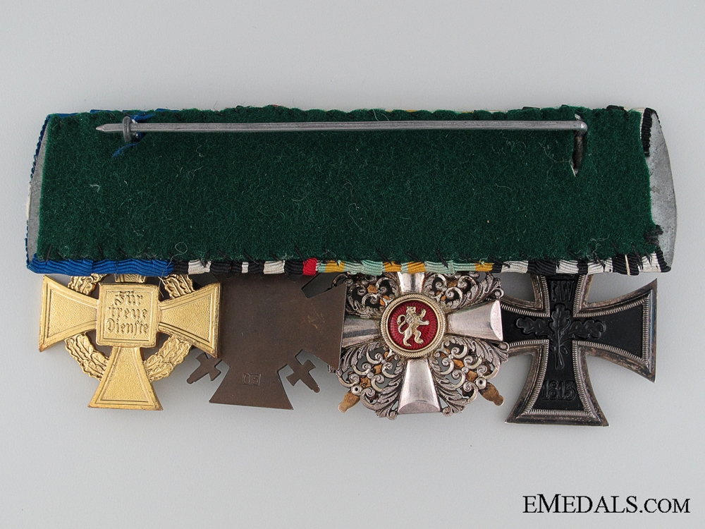 A Fine First War Period Medal Bar