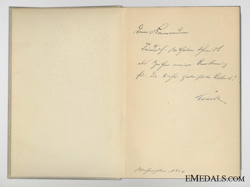 An Autographed Baldur Von Schirach Novel