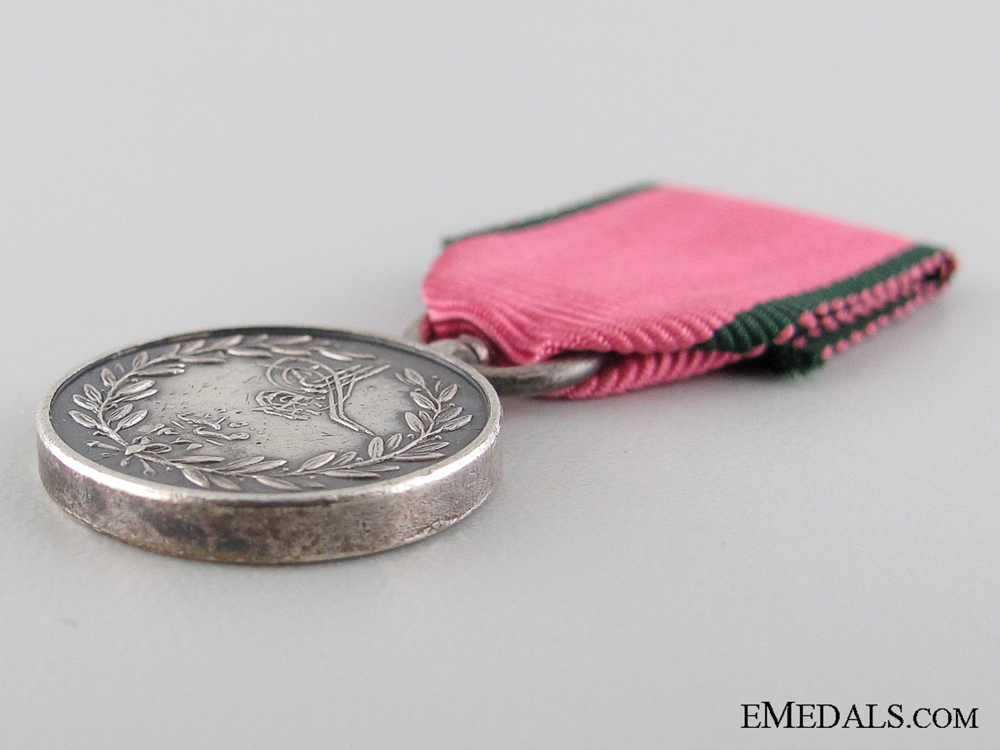 A Period & Miniature Turkish Crimea Medal