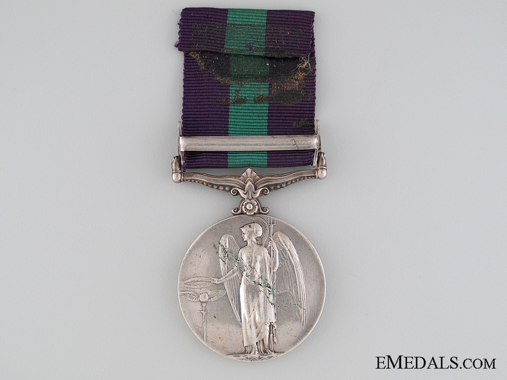 General Service Medal 1918-1962 to the Manchester Regiment