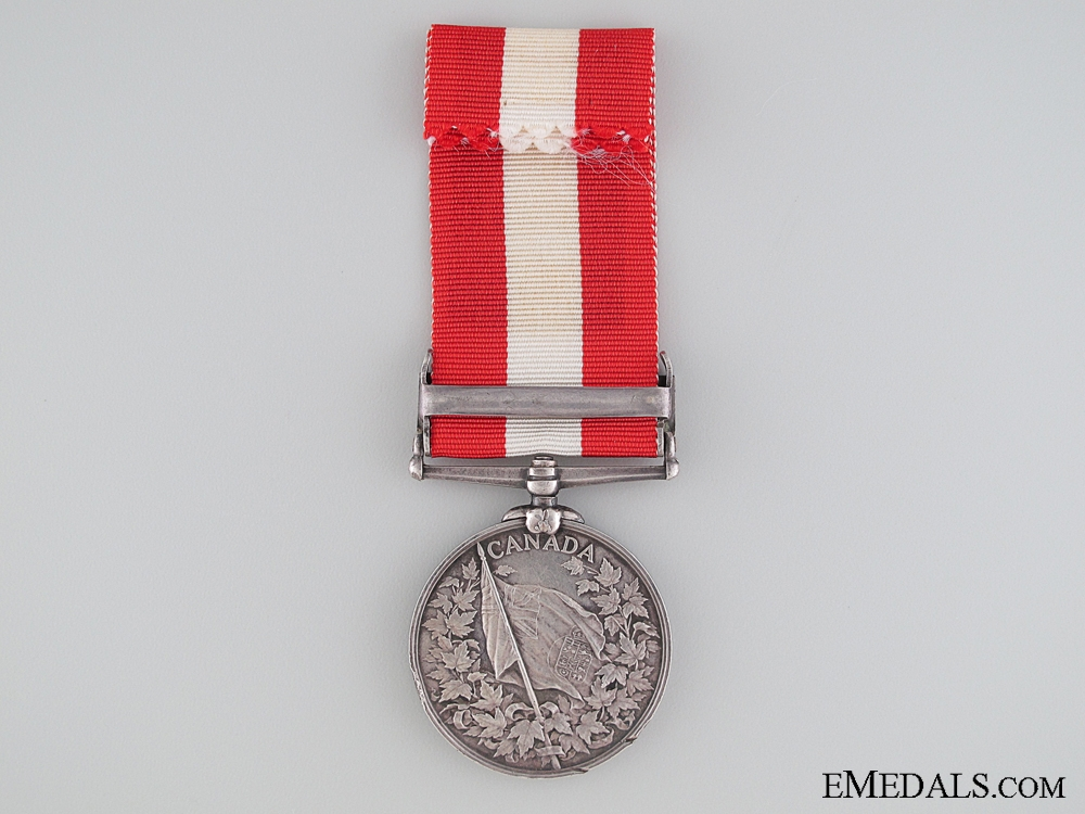 Canada General Service Medal to the New Brunswick Garrison Artillery
