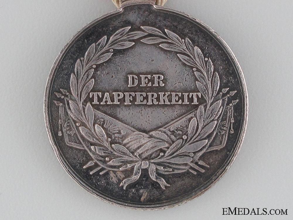 An Austrian Silver Bravery Medal; Second Class 1849-1859