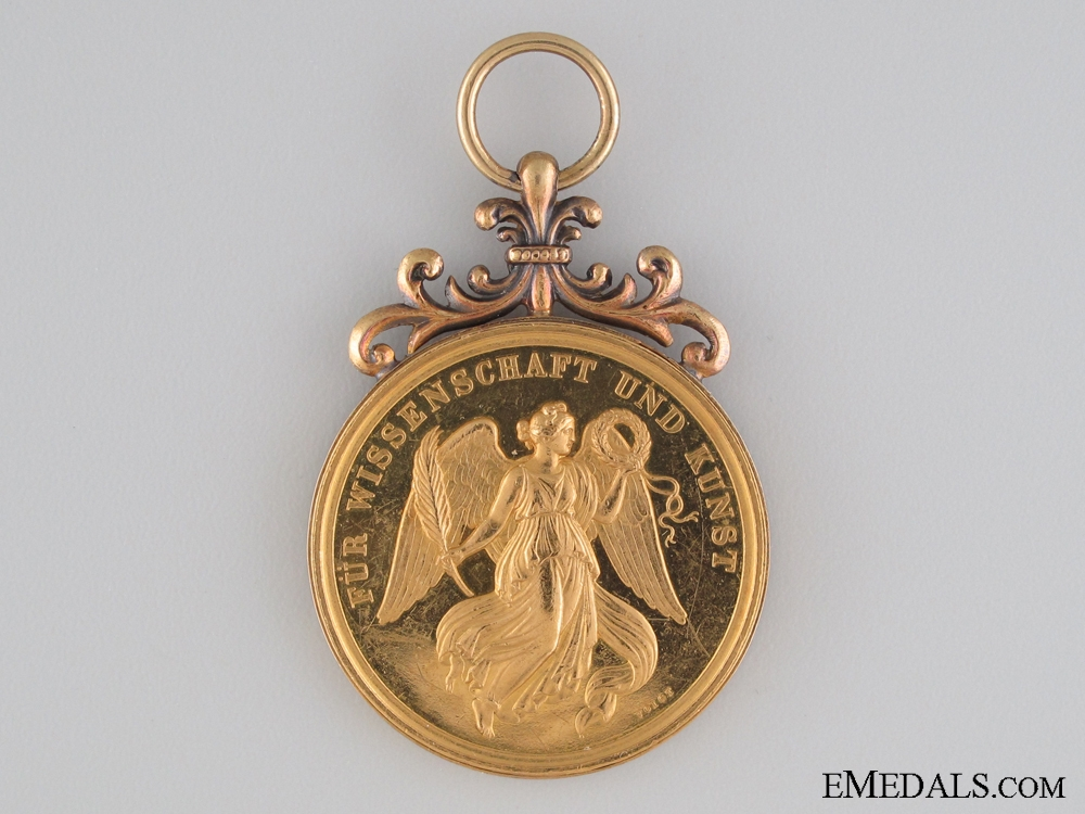 A Rare Gold Bavarian Medal for the Arts and Sciences