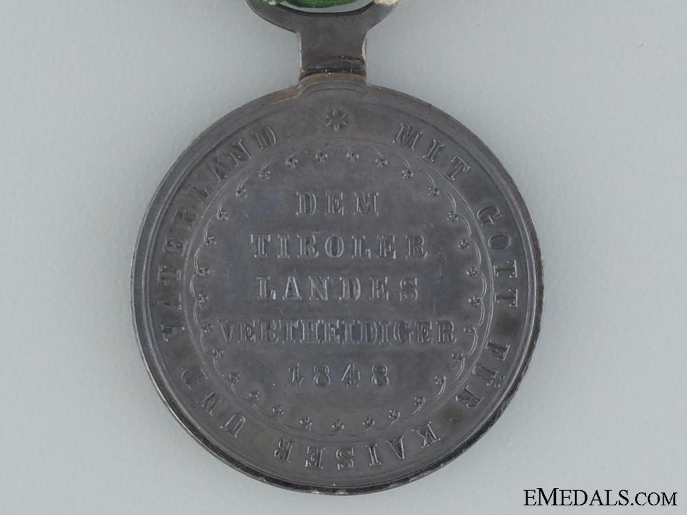 1848 Tirol Defence Commemorative Medal